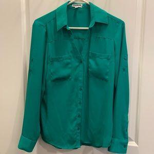 Express - Portofino Dress Shirt - Slim - Green - S